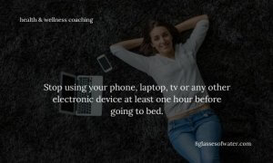 Did you know? The blue light emitted by your devices is a big sleep disruptor, interfering with your circadian rhythm (sleep-wake cycle).