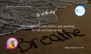 Did you know? Just three simple deep breaths can calm your mind, lower anxiety, and help you be more in control of your emotions during a meeting or call.